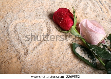 Romantic Items for use in Valentines or Love Related Designs - stock photo