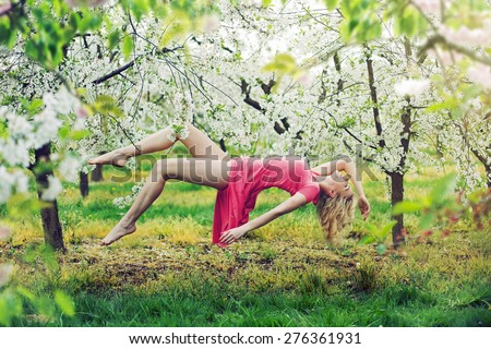 stock photo romantic levitating blonde beauty 276361931 woman levitating stock images, royalty free images & vectors  at crackthecode.co