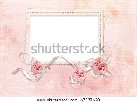 Romantic Love Background Frame Stock Illustration 67337620 ...