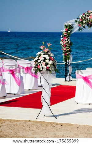 Romantic place for wedding ceremony, Zakynthos - stock photo