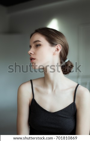 Romantic portrait of a beautiful girl