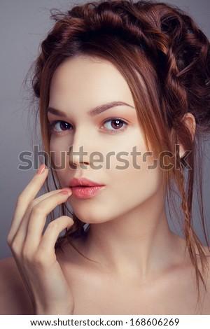 Romantic portrait of a beautiful lady - stock photo