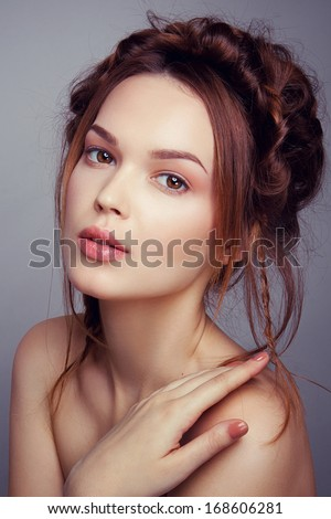 Romantic portrait of a beautiful lady - stock photo