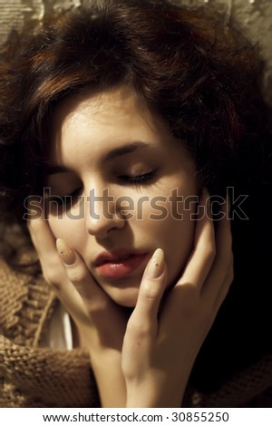 Romantic portrait of young pretty woman