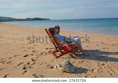 Romantic relax on the beach
