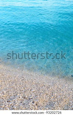 Romantic sandy beach - stock photo