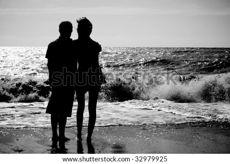 Romantic scene. Element of design. - stock photo