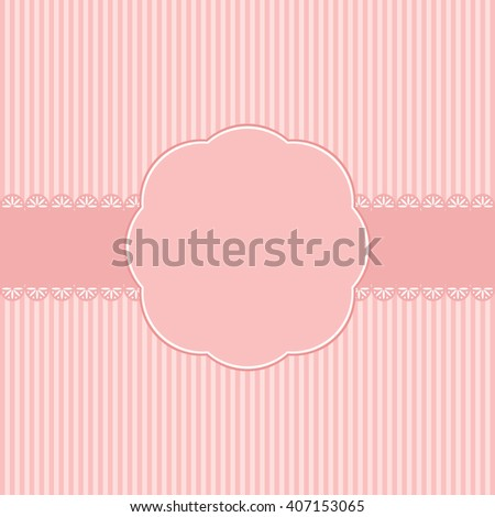 Romantic Template birthday greeting card