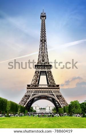 Romantic tower in Paris - stock photo