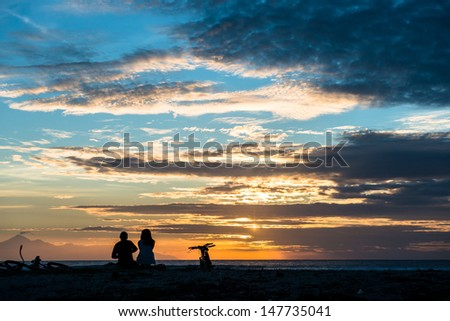 Romantic travel to paradise - stock photo