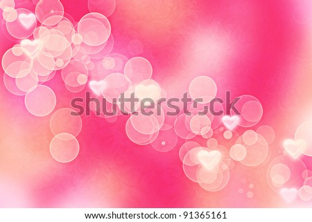 Romantic Valentine Bokeh Lights Background Wallpaper Stock Photo ...