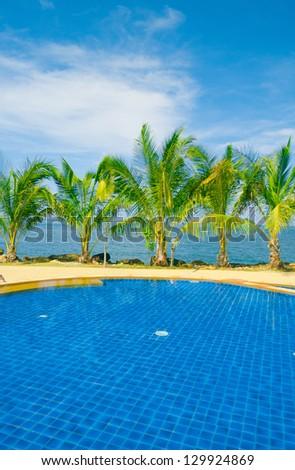 Romantic Villa Blue Luxury - stock photo
