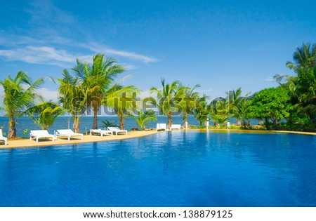 Romantic Villa Fancy Hotel - stock photo
