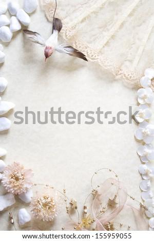 Romantic vintage background - stock photo