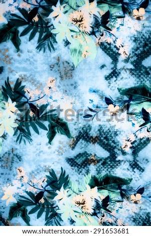 Romantic vintage flower background - stock photo