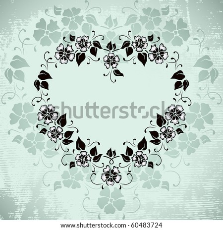 romantic vintage frame - raster copy - stock photo