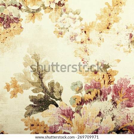 Romantic vintage shabby floral background. Square toned image, instagram effect  - stock photo