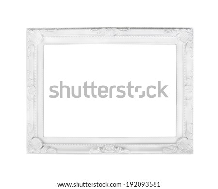 Romantic white frame, isolated - stock photo