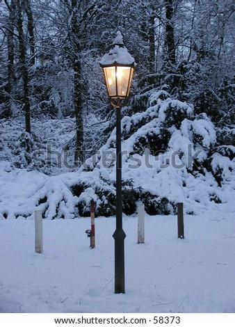 Romantic Winter Light - stock photo