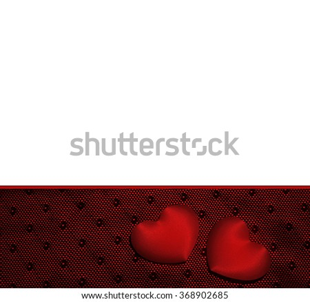 Romantic  withe background with hearts. - stock photo