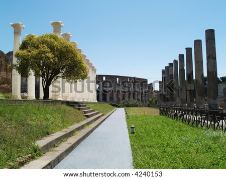 rome antique landscape - stock photo