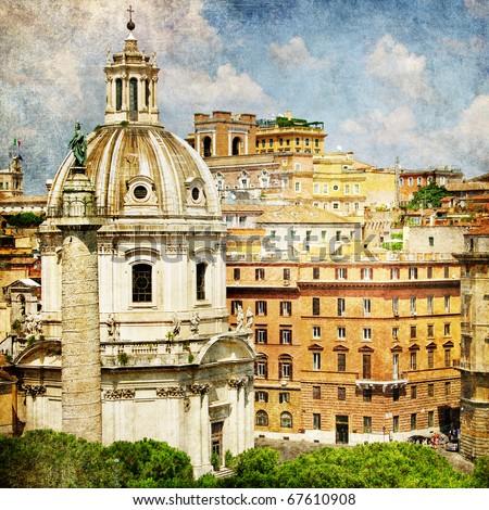 Rome - artistic picture - stock photo