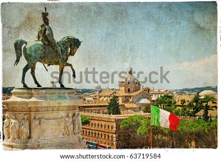 Rome - artistic retro styled picture - stock photo