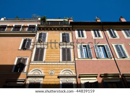 Rome Buildings - stock photo