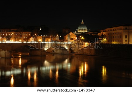 Rome by night - stock photo