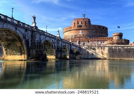 Rome - Castel saint Angelo, Italy - stock photo