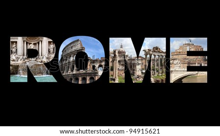 Rome Italy Beautiful Window Decorated Red Stock Photo ...
