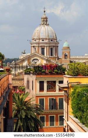 rome cityscape - stock photo
