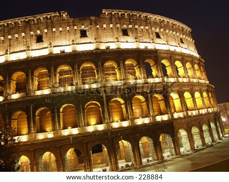 Rome Colosseum in Lights
