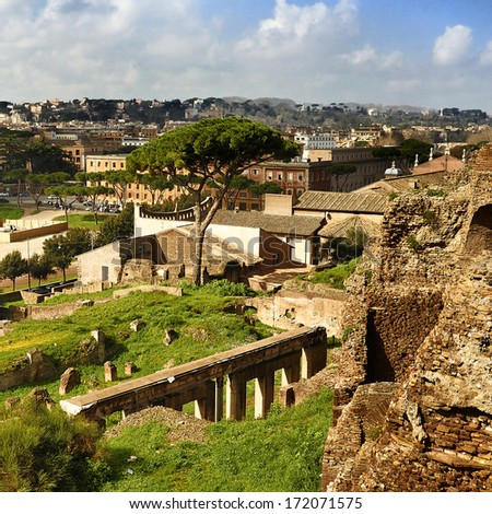 Rome. Forum Romanum - stock photo