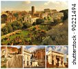 Rome. Forum Romanum. Collage - stock photo