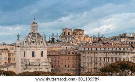 Rome, Italy. Aerial view of the ancient city.