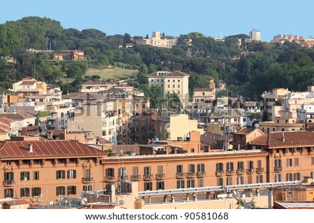 Rome, Italy. Aerial view of the city seen from Vatican.