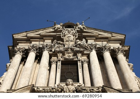 Rome, Italy. Church of Saint Vincent and Anastasius in Trevi. - stock photo