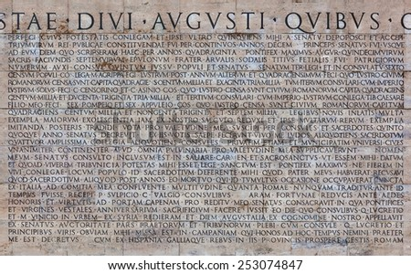 Rome italy december 02 2014 copy stock photo royalty free - Res gestae divi augusti ...
