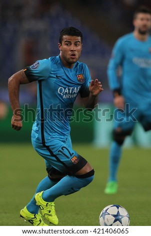 "ROME, ITALY - FEBRURY 2016 : Rafinha in action during football match  of Italian League ""Serie A"" between A.s. Roma  vs Barcellona at the Olimpic Stadium  on Februry 7, 2016 in Rome."