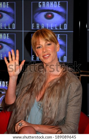 ROME - ITALY- JANUARY 19: Alessia Marcuzzi at the photocall in television studios of Cinecitt�  for the reality show Big Brother 8 on Junuary 19,2008 in Rome.