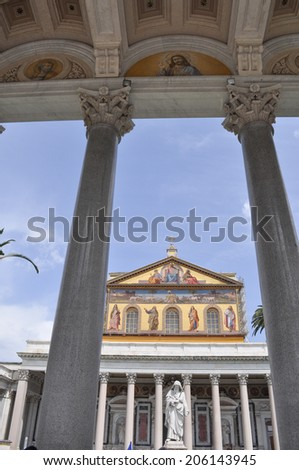 ROME, ITALY - JUNE 23, 2014: Church of San Paolo Fuori Le Mura