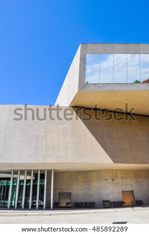 ROME, ITALY - JUNE 24, 2014: High_dynamic_range (HDR) The Maxxi museo nazionale delle arti del XXI secolo meaning National Museum of the 21st Century Arts
