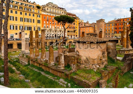 Rome Italy May 7 2016 Ruins Stock Photo 440009248