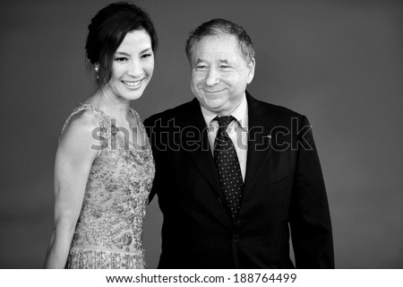 ROME, ITALY - OCTOBER 27: Jean Todt and his wife Michelle Yeoh attend the 'The Lady' premiere during 6th Rome Film Festival on October 27, 2011 in Rome, Italy. - stock photo