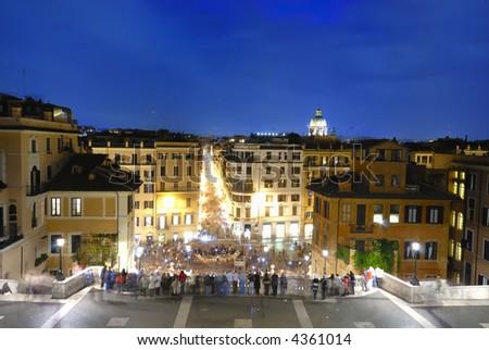 Rome, Italy, Piazza di Spagna and Via Condotti - stock photo