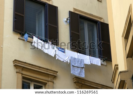 Rome, Italy. Typical architectural details of the old city - stock photo