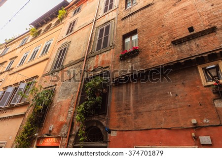 ROME - January 6: Beautiful streets of Rome 6, 2016 in Rome, Italy.