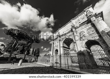 ROME - January 12: Rome. Beautiful sights of Rome. January 12, 2016 in Rome, Italy.