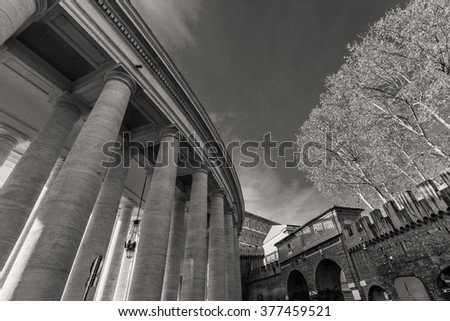 ROME - January 6: St. Peter's Square, ancient Rome 6, 2016 in Rome, Italy.